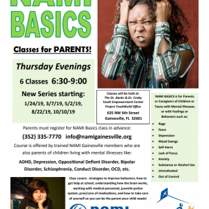 "01/24-10/10 NAMI Basics - Classes for Parents of ""Challenging"" Kids"