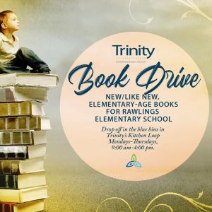 Trinity UMC Book Drive for Rawlings Elementary